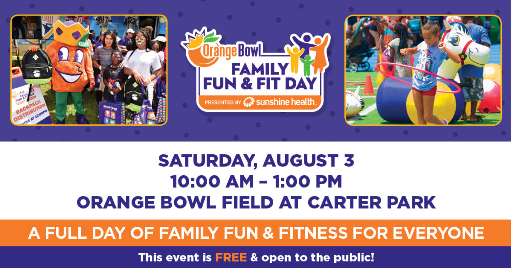 Orange Bowl Family Fun and Fit day poster 1